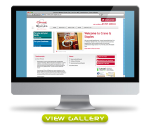 Click here to view screen grabs of the Crane & Staples website